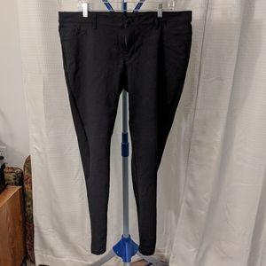 Ava & Viv 20W black ponte skinny pants/jeggings